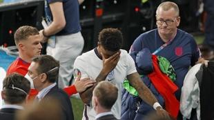 Rashford después de la final de la Eurocopa.