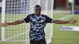 Sadiq celebra un gol ante el Leganés.