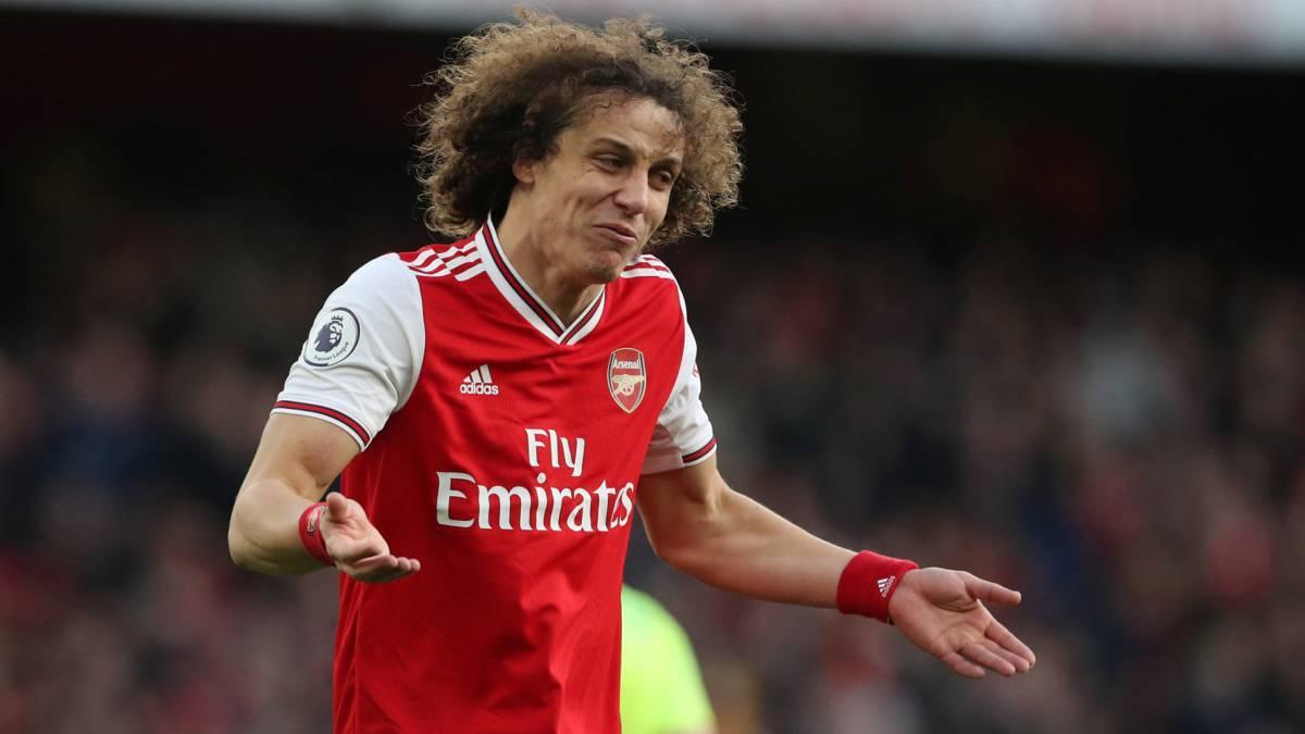 David Luiz con el Arsenal.