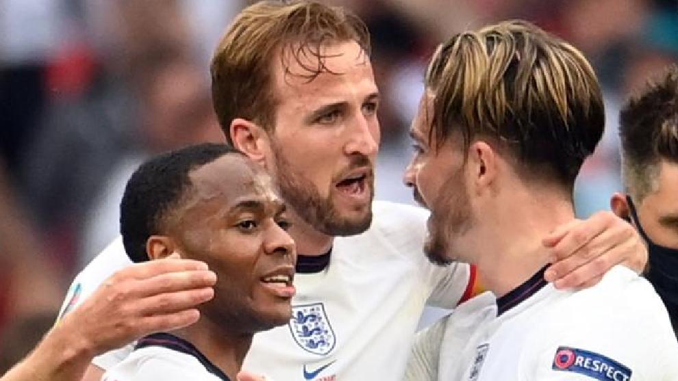 Sterling, Kane y Grealish.