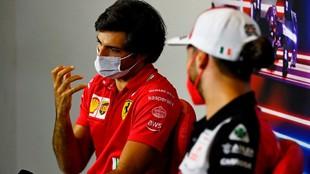 Carlos Sainz, durante la rueda de prensa de hoy en Silverstone.