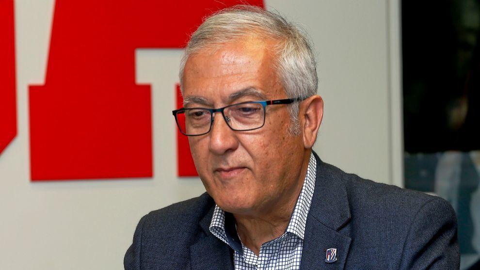 Gregorio Manzano, durante una visita a MARCA