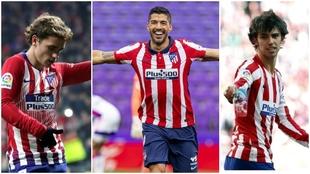 Griezmann, Suarez and Joao Felix