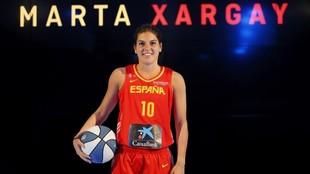 Marta Xargay, en una presentación con la selección española.