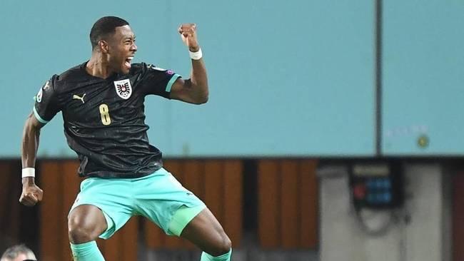 Alaba celebra un gol durante la Eurocopa con Austria.