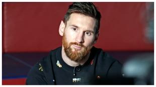 Leo Messi durante una entrevista.
