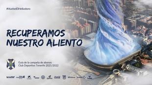 Cartel del anuncio de la campaña de abonados