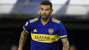 Edwin Cardona, en un partido con la camiseta de Boca.