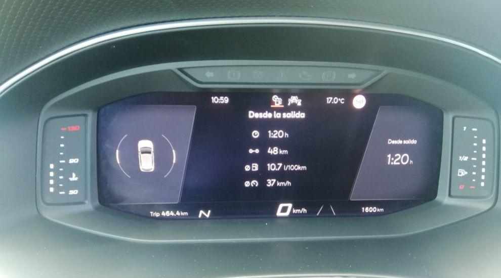 Digital Cockpit del Seat Ibiza.