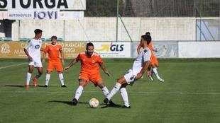 Lance del partido jugado en Astorga.