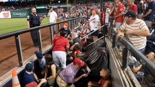 ¿Qué pasó afuera del estadio de los Nationals de Washington?