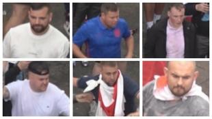 Seis imágenes de los sospechosos que ha difundido la policía.