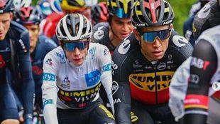 Vingegaard, en una etapa durante este Tour de Francia