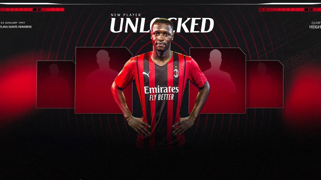 La imagen con la que el Milan ha anunciado el fichaje de Fodé Ballo-Touré.