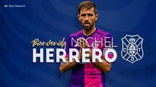 La imagen con la que el Tenerife ha anunciado el fichaje de Míchel...