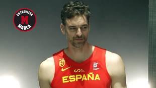 Pau Gasol en la presentación de la selección española