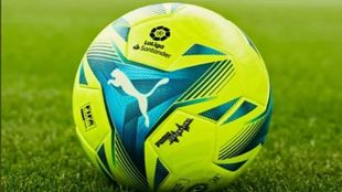 One of the new LaLiga balls for 2021/22