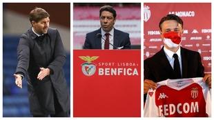 A los lados, Gerrard y Kovac, entrenadores de Rangers y Mónaco. En el...