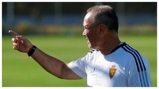 JIM dirige el entrenamiento del Zaragoza