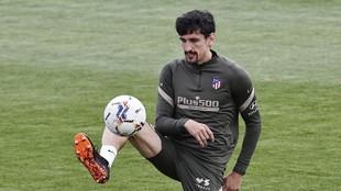 Stefan Savic in training