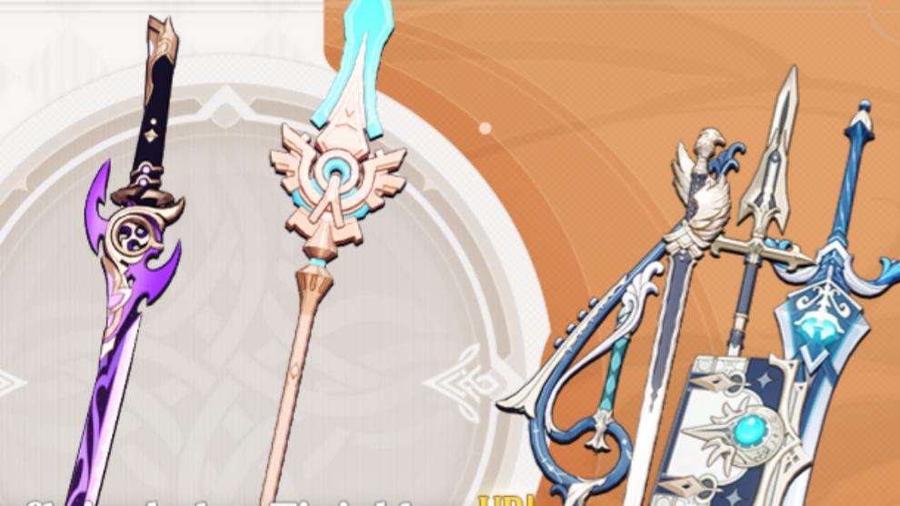 Armas y equipamiento en la versión 2.0 de Genshin Impact