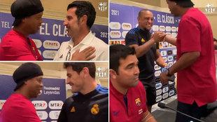 Las leyendas del Madrid y el Barça se ponen de pie ante Ronaldinho: ¡vaya alineación!