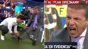 Así fue la lesión de Cristóbal Soria en directo... ¡tuvieron que parar el debate en El Chiringuito!
