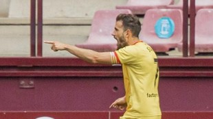 Stuani, durante un partido con el Girona la temporada pasada.