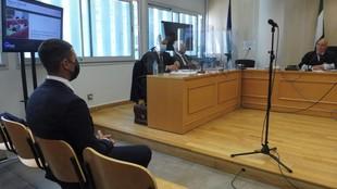 Rubén Castro, en la sala de vistas del Juzgado de lo Penal número 11...