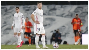 Jovic in a match with Real Madrid.