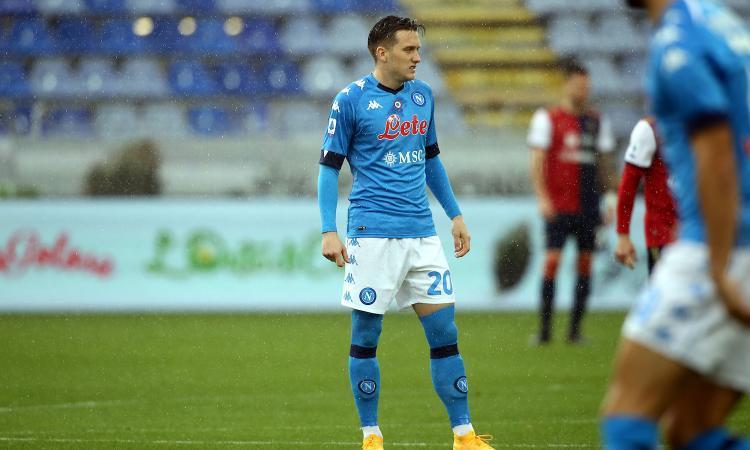 Zielinski, jugador del Nápoles