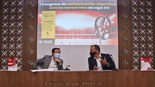Miguel Ángel Gallardo, presidente de la Diputación de Badajoz, y...