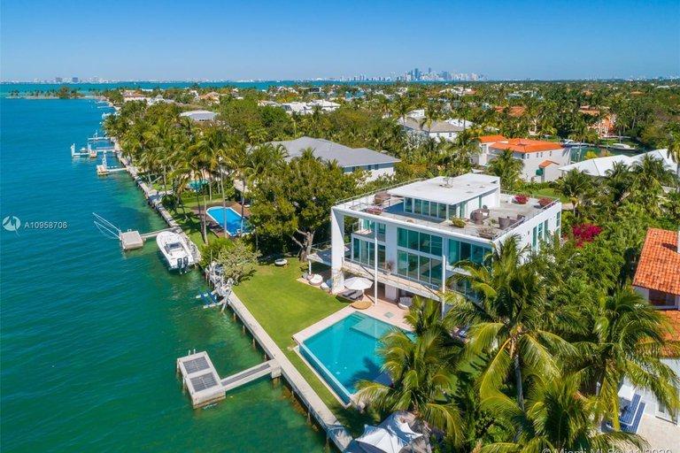 Casa donde se ha hospedado Messi en Miami.