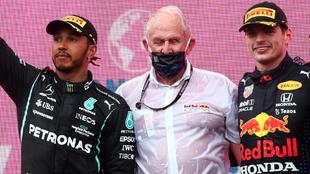 La rivalidad entre Red Bull y Mercedes ha sido constante este año en...