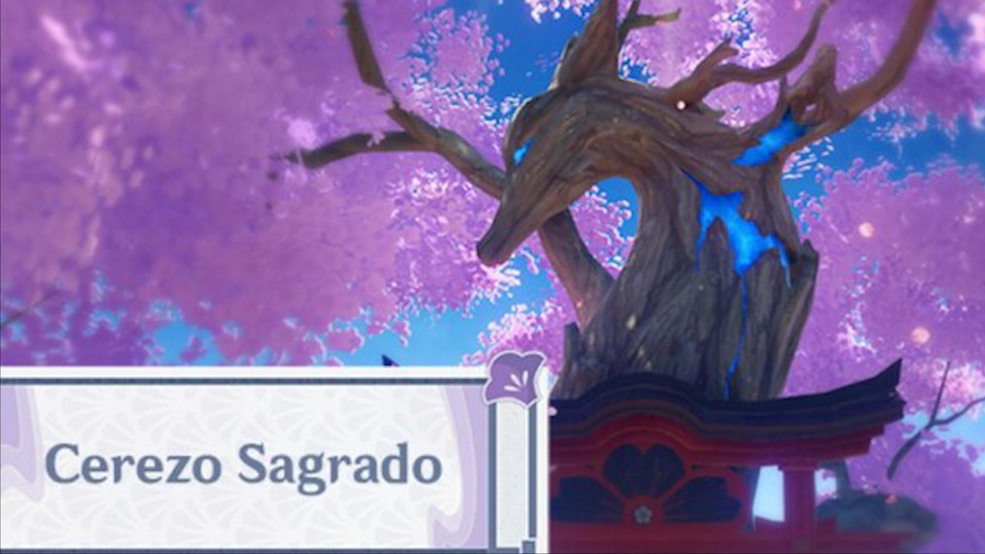 El Cerezo Sagrado de Genshin Impact que proporciona electrógranos