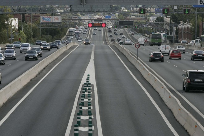 The Bus-HOV lane of the A-6.