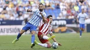 Cifu, en un partido ante el Almería en su etapa en Segunda con el...