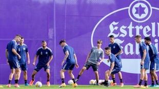 Jugadores del Valladolid entrenando en esta pretemporada.