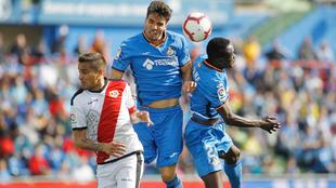 Imagen del último duelo entre Getafe y Rayo, ne la temporada 2018-19