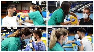 Los jugadores del Tenerife reciben su dosis de vacuna contra el...