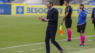 Vicente Moreno, durante un encuentro de la temporada pasada.