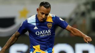 Sebastián Villa, durante el partido contra Atlético Mineiro que...