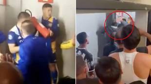 Así fue la pelea de la vergüenza: Marcos Rojo con un extintor, botellazos del presidente...