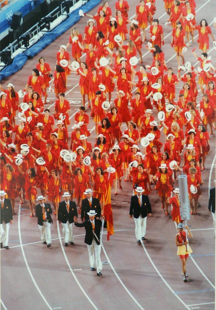 Desfile español en Barcelona 92