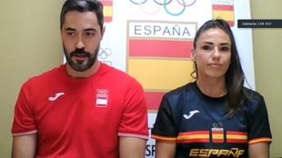 Raúl Entrerríos y Carmen Martín, durante la rueda de prensa