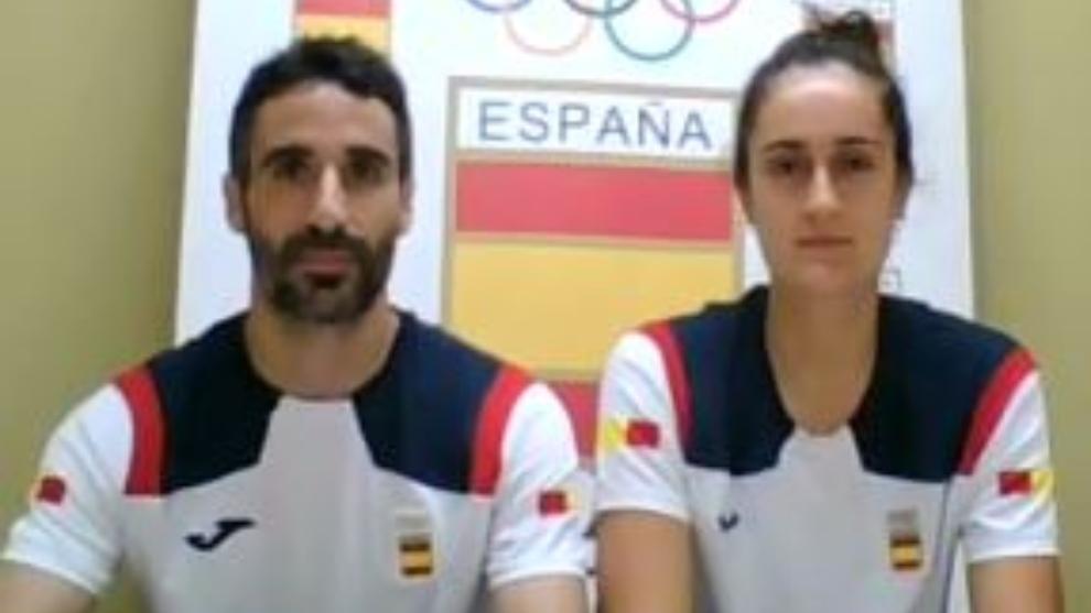 Pablo Abián y Clara Azurmendi, en una rueda de prensa del COE.