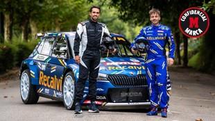 Alberto Contador - copiloto - Cohete Suárez - rallies - Skoda