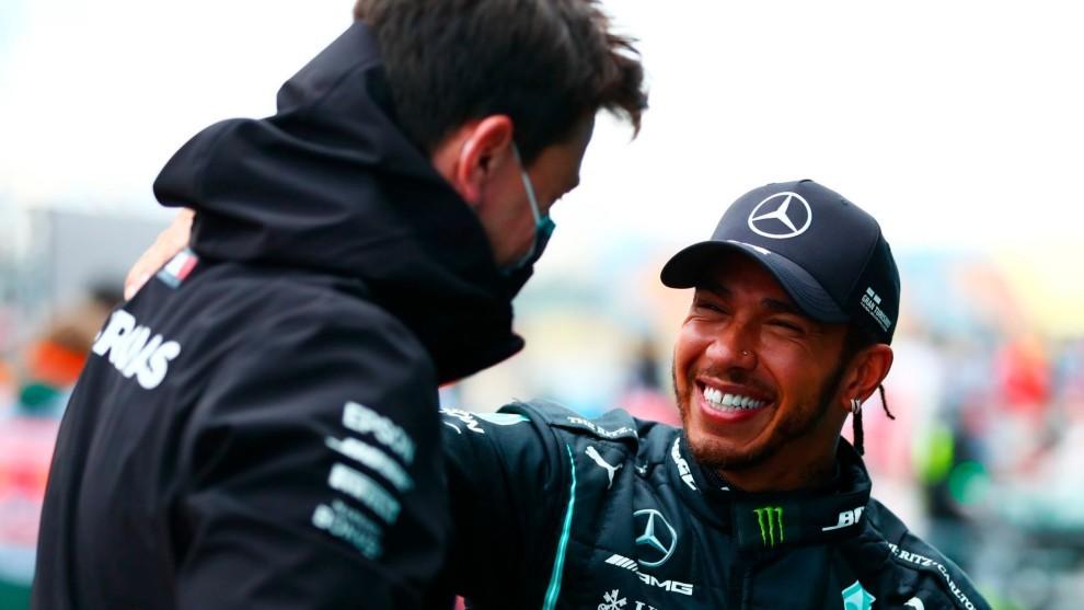Wolff y Hamilton, esta temporada.