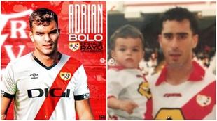 Adrián y su padre Jon, dos generaciones unidas en la franja.
