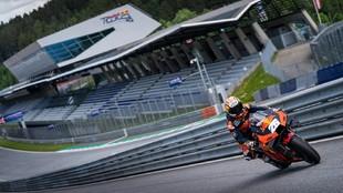 Pedrosa, con la KTM en el Red Bull Ring.